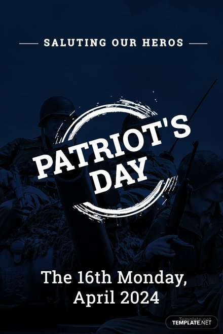 Free Patriot's Day Pinterest Pin Template
