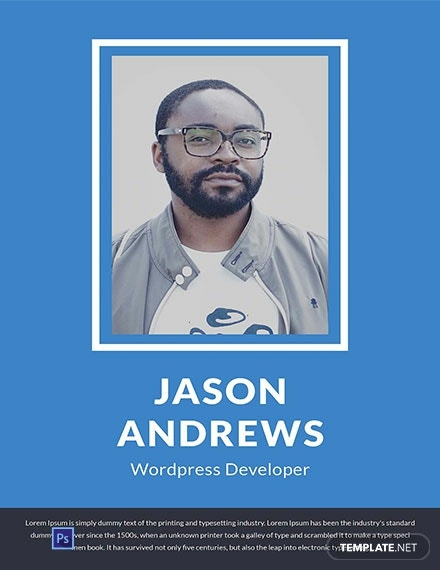 Wordpress Developer Cover Page