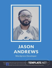 Free Wordpress Developer Resume