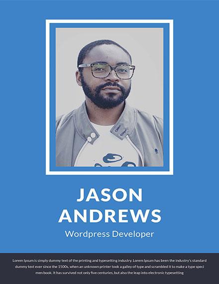 Free Wordpress Developer Resume