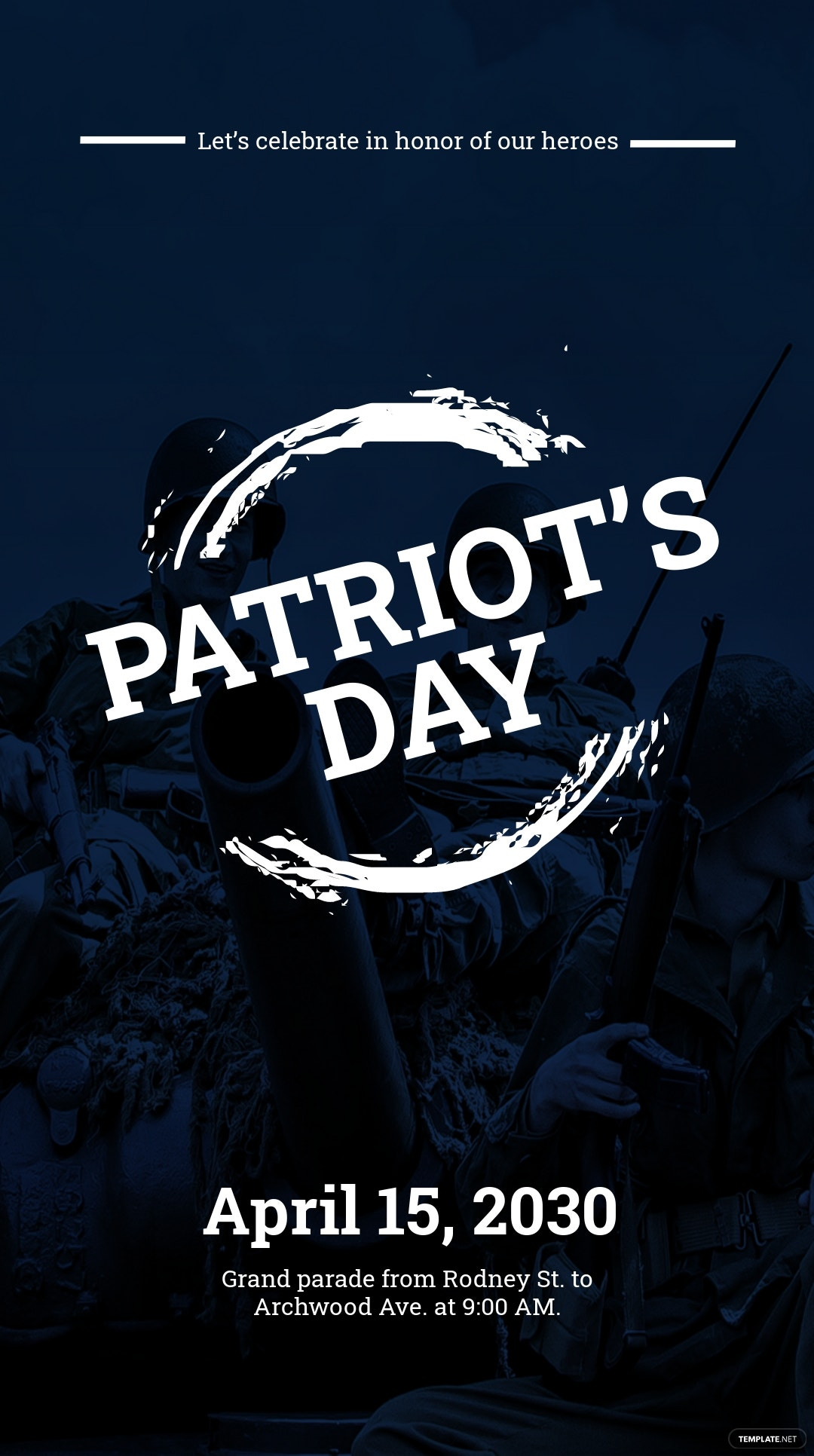 Patriot's Day Snapchat Geofilter Template