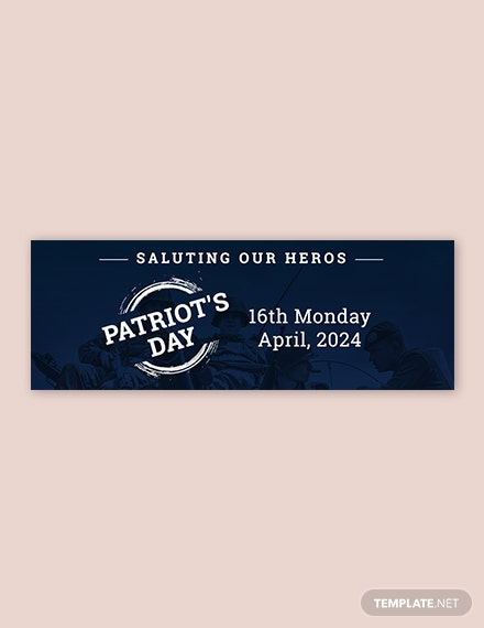 Free Patriot's Day Tumblr Banner Template
