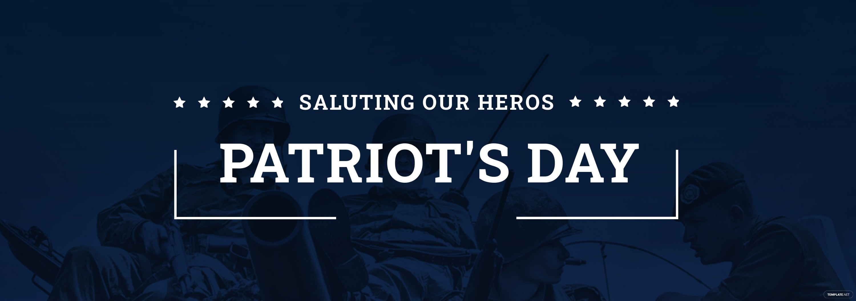 Patriot's Day Tumblr Banner Template