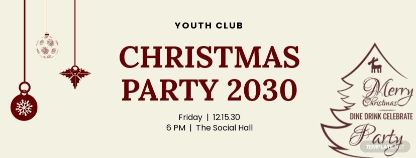 Free Christmas Party Facebook and Twitter Cover Page
