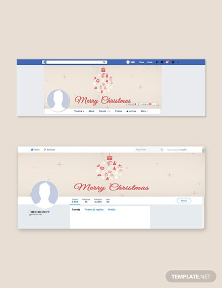 Free Merry Christmas Facebook and Twitter Cover Page