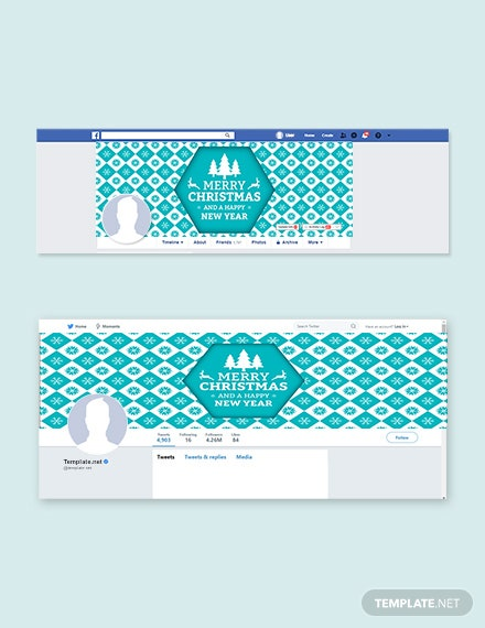 Free Christmas and New Year Facebook and Twitter Cover Page