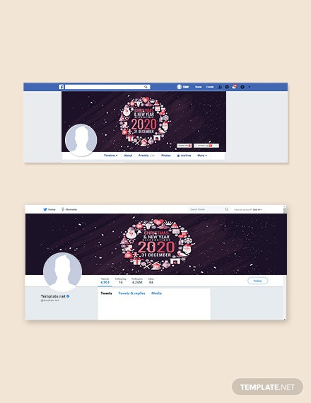Free Modern Christmas Facebook and Twitter Cover Page