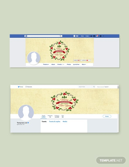 Free Simple Christmas Facebook and Twitter Cover Page