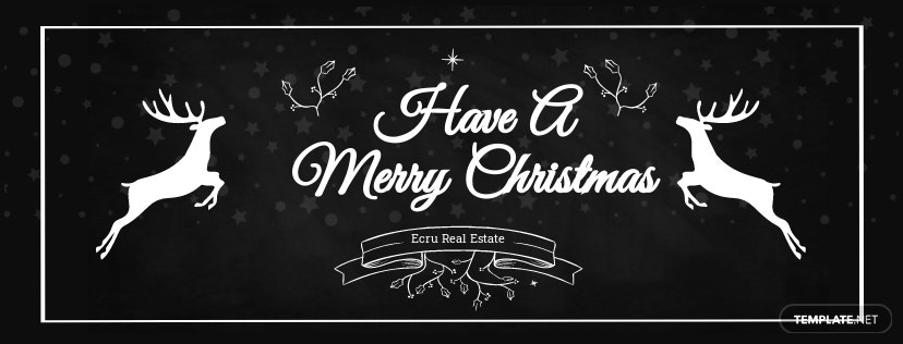 Free Chalkboard Christmas Facebook and Twitter Cover Page.jpe