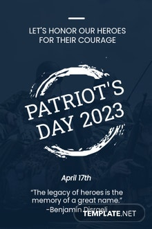 Free Patriot's Day Tumblr Post Template