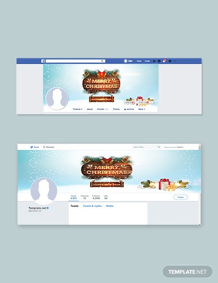 Free Snowflake Christmas Facebook and Twitter Cover Page