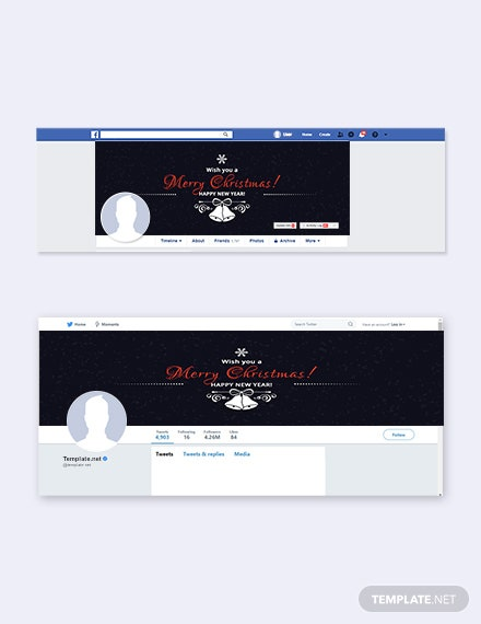 Free Christmas Facebook and Twitter Cover Page