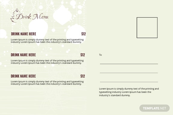 Free Christmas Party Postcard Template 1.jpe