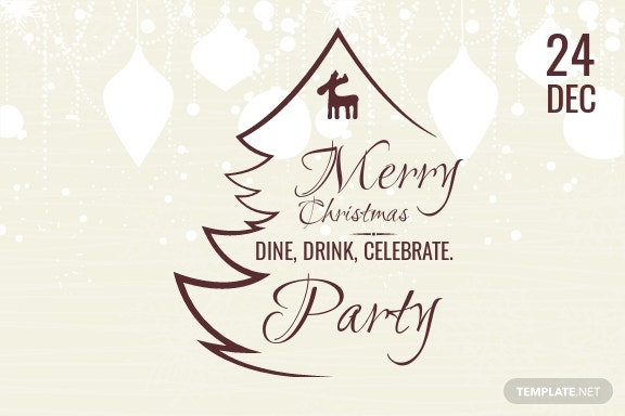 Christmas Party Postcard Template