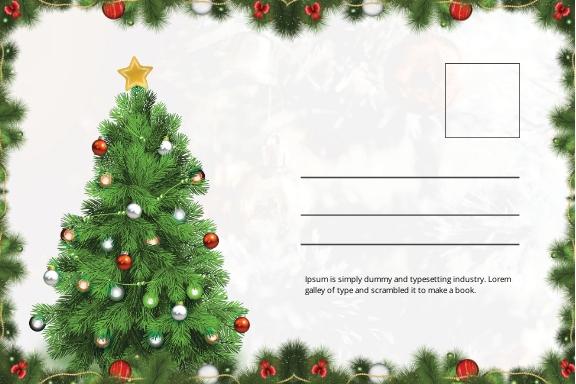 Snowflake Christmas Postcard Template 1.jpe