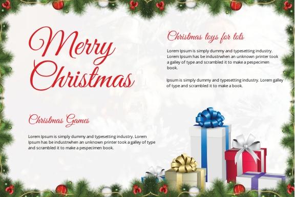 Snowflake Christmas Postcard Template