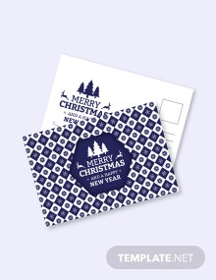 Free Creative Christmas Postcard Template