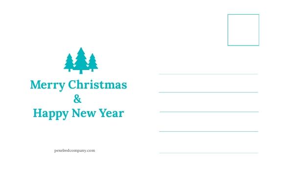 Free Creative Christmas Postcard Template 1.jpe