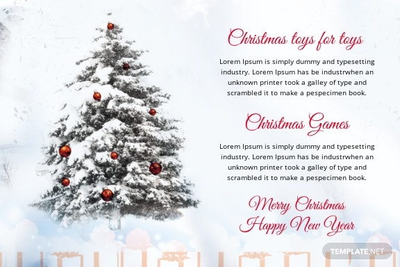 Free Christmas Invitation Postcard Template 1.jpe
