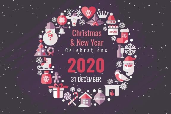 Free Rustic Christmas Postcard Template