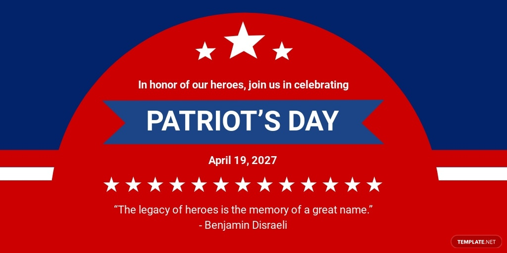 Patriot's Day Twitter Post Template