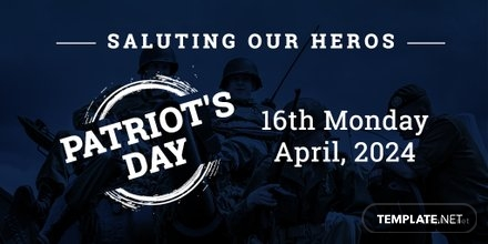 Free Patriot's Day Twitter Post Template