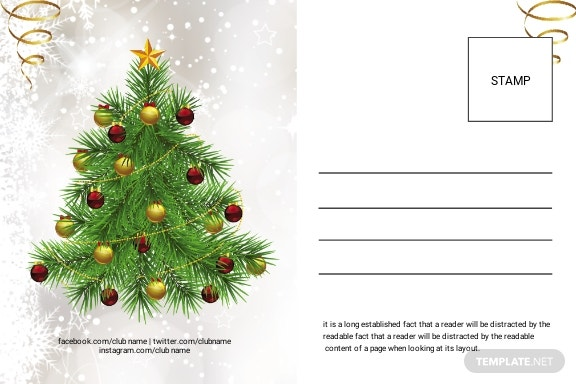 Free Modern Christmas Postcard Template 1.jpe