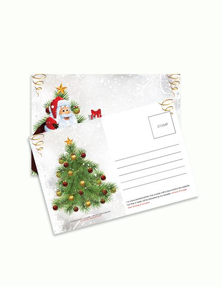 Free Modern Christmas Postcard Template