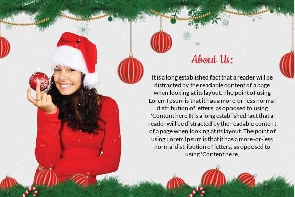 Free Christmas Family Postcard Template 1.jpe