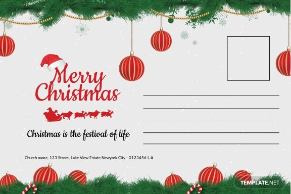 Christmas Family Postcard Template