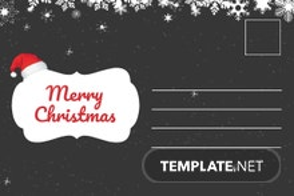 Free Chalkboard Christmas Postcard Template