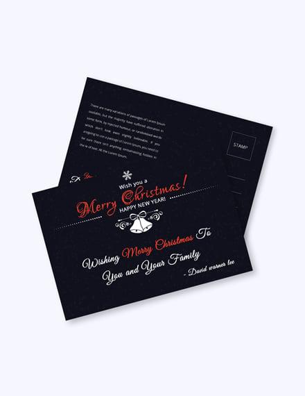 Free Christmas Holiday Postcard Template