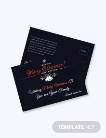 Free Christmas Holiday Postcard Template