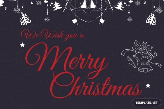 Elegant Merry Christmas Postcard Template