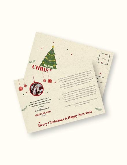 Christmas and New Year Postcard