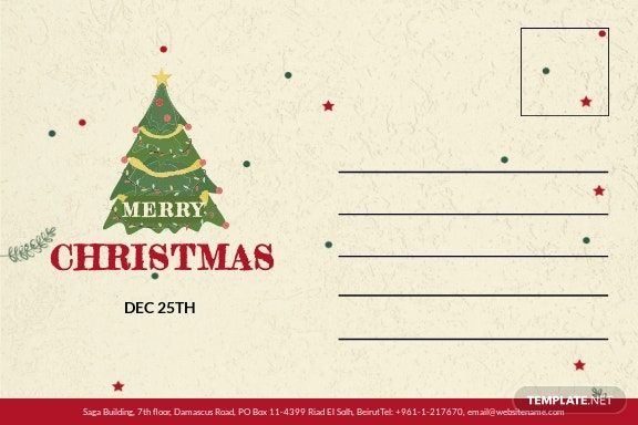 Christmas and New Year Postcard Template