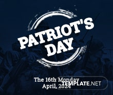 Free Patriot's Day Twitter Header Cover Template
