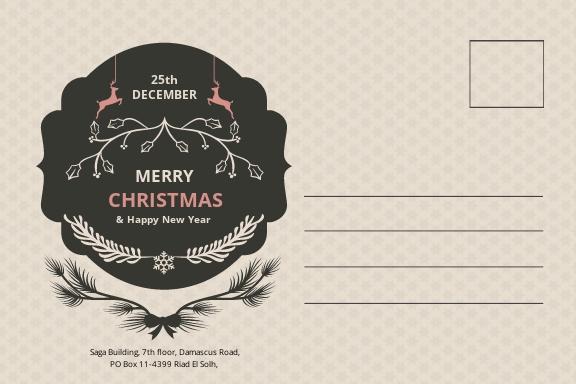Free Transparent Christmas Postcard Template 1.jpe