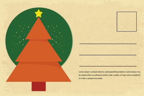 Free Merry Christmas Invitation Postcard Template 1.jpe