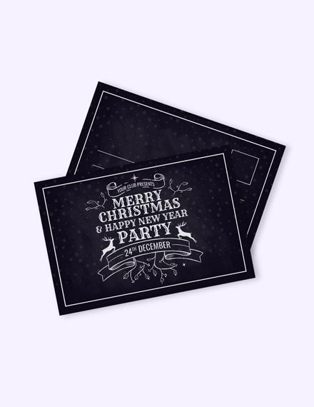 Free Christmas Postcard Template