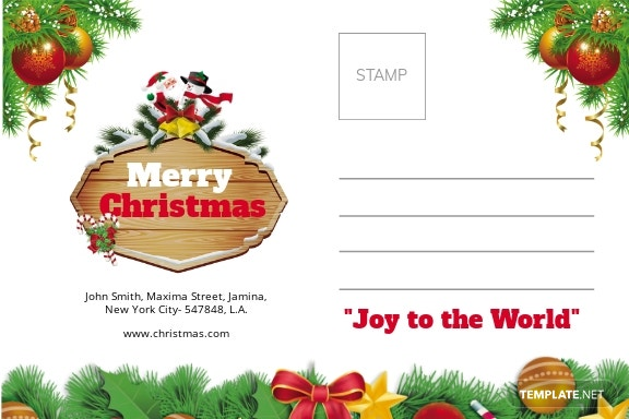 Christmas Brochure Postcard Template