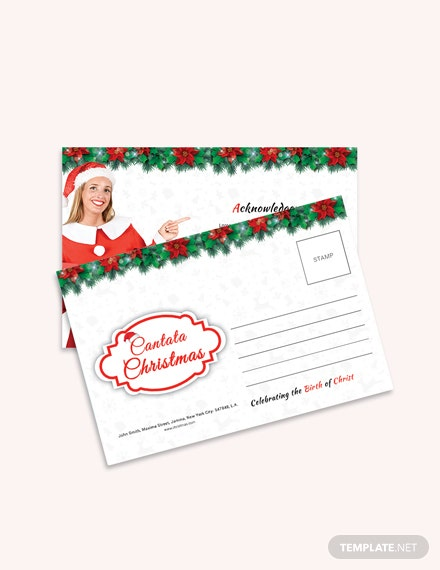Free Cantata Christmas Postcard Template