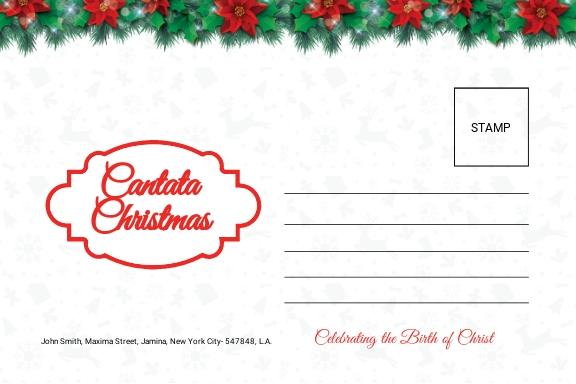 Free Cantata Christmas Postcard Template 1.jpe