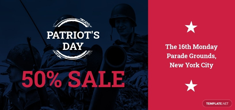Patriot's Day Voucher Template
