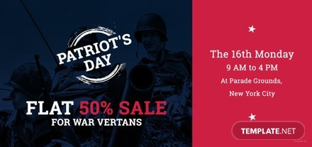Free Patriot's Day Voucher Template