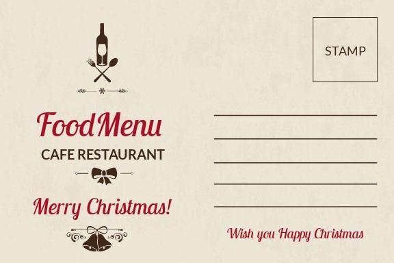 Restaurant Christmas Postcard Template 1.jpe