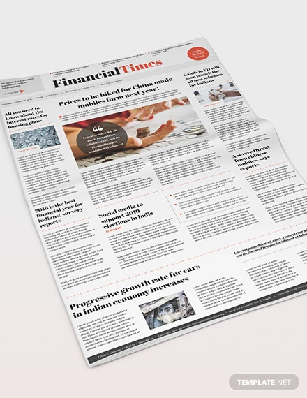 Sample Financial Newspaper