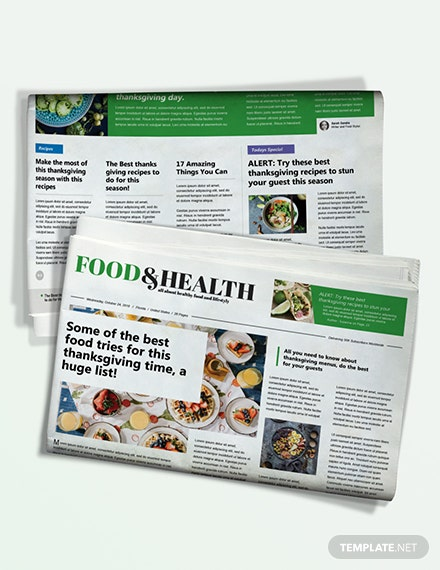 Food and Health Newspaper Download
