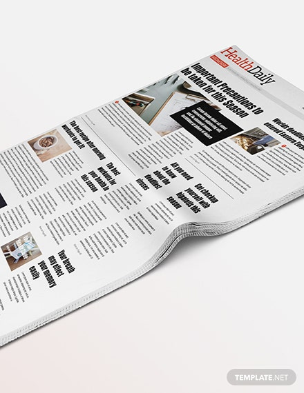 Sample Health Newspaper