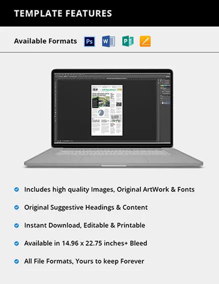 Editable Interior Design Newspaper